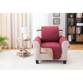 Reversible Quilted Suede Microfiber Chair Furniture Protector