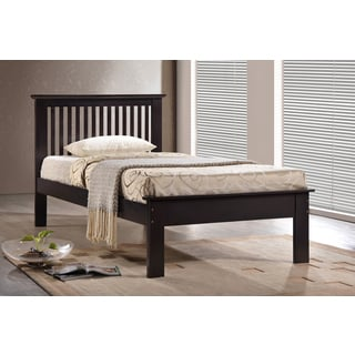 Houston Chocolate Twin Bed with Optional Drawers