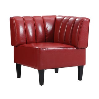 Moda Red Channel Back Nook Corner Bench