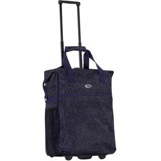 Calpak 'Big Eazy' Purple Code 20-inch Washable Rolling Shopping Tote Bag