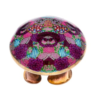 Arleti Golden Multicolor Dome Cocktail Ring (India)