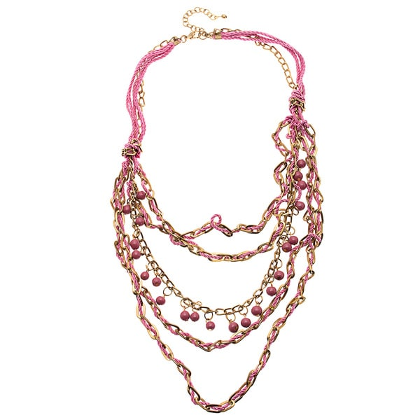 Dori Pink Multi-strand Necklace (India)