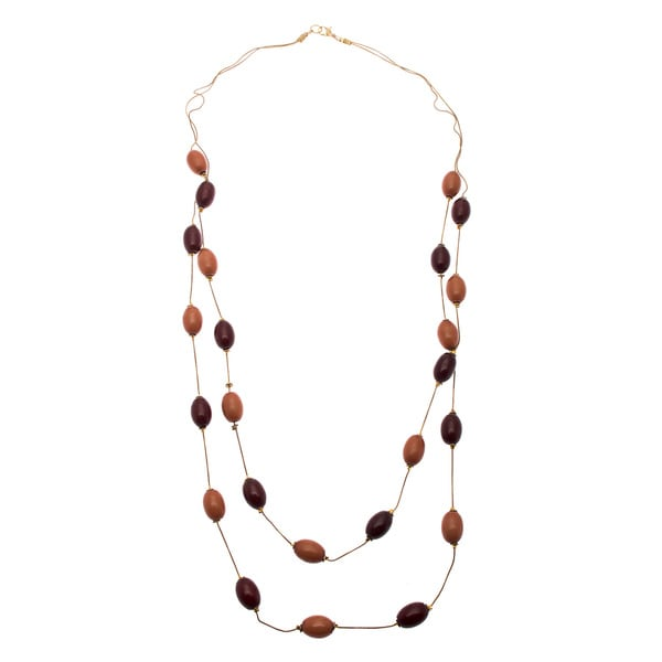 Serenity Brown Beaded Necklace (India)