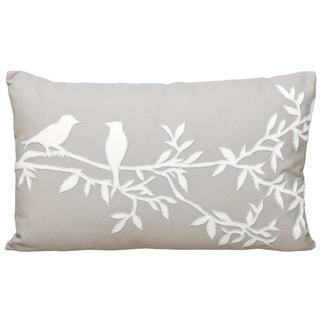 12 x 20-inch Carmine Decorative Throw Pillow (India)