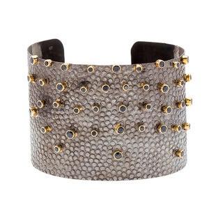 Diez Goldplated Black Crystal Cuff Bracelet (India)