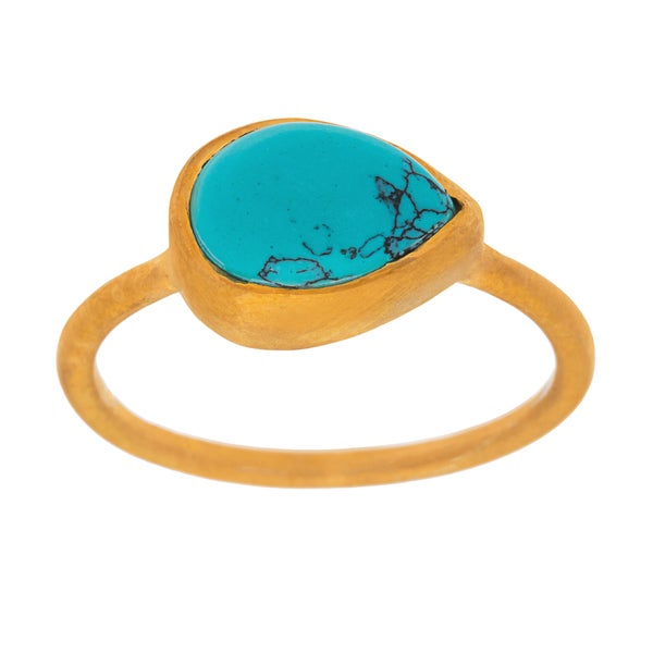 Joli Teardrop Goldplated Ring (India)