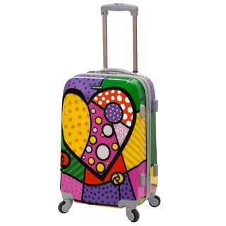 Rockland Vision Heart 20-inch Lightweight Hardside Spinner Carry-on Suitcase