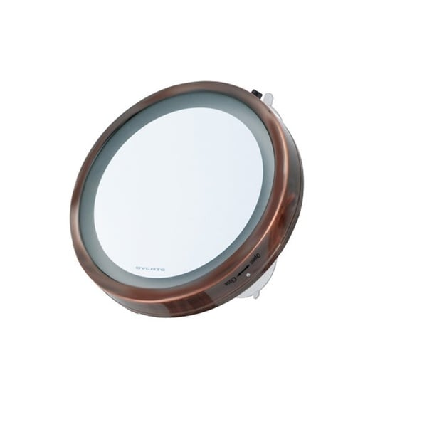 Ovente LED Lighted Suction Cup 8x Magnifiying Mirror 13667584