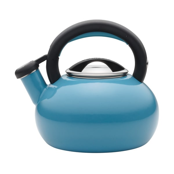 Circulon 2-quart Sunrise Turquoise Teakettle