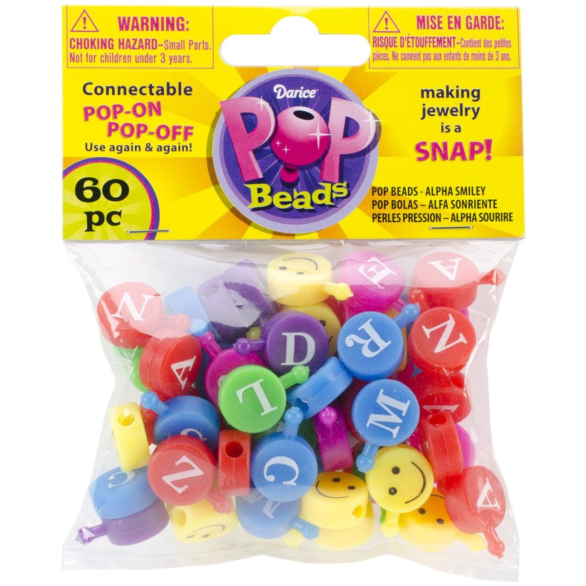 Pop Beads 60/PkgAlpha Smiley