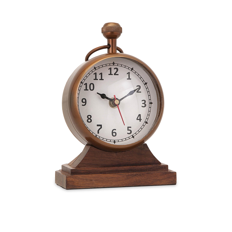 Beth Kushnick Clock w/ Wood Base