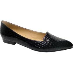Women's Bellini Flora Flat Black Croc