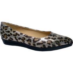 Women's Bellini Freda Flat Silver Leopard