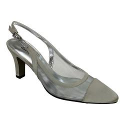 Women's David Tate Vegas Silver Satin Mesh
