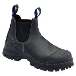 Men's Blundstone Xfoot Rubber Range Slip On Boot Black Leather