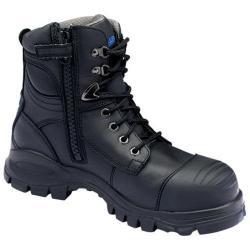 Men's Blundstone Xfoot Rubber Range Zip Boot Black Leather