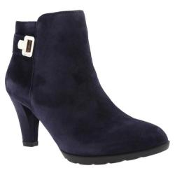 Women's Anne Klein Dvorah Ankle Boot Navy Suede