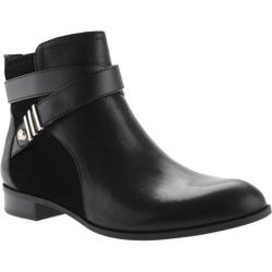 Women's Anne Klein Kael Ankle Boot Black Leather/Suede