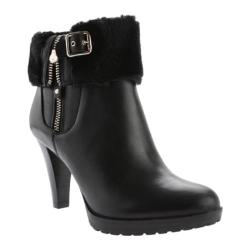 Women's Anne Klein Talasi Ankle Boot Black Leather
