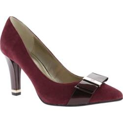 Women's Anne Klein Thrya Pump Wine Suede