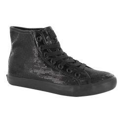 Women's Gotta Flurt Disco II Hi Sneaker Black/Black Sequin/Pu