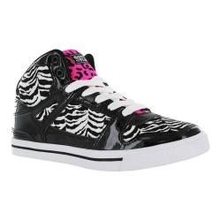 Girls' Gotta Flurt Hip Hop VI G Sneaker Black/White/Hot Pink Canvas/Patent Pu