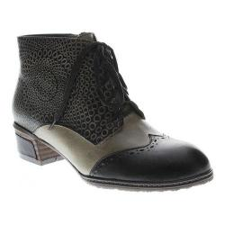 Women's L'Artiste by Spring Step Granola Bootie Black Multi Leather