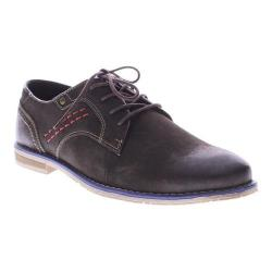 Men's Spring Step Ritzy Oxford Dark Brown Nubuck Leather