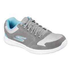 Women's Skechers GOwalk City Champion Sneaker Gray/Aqua