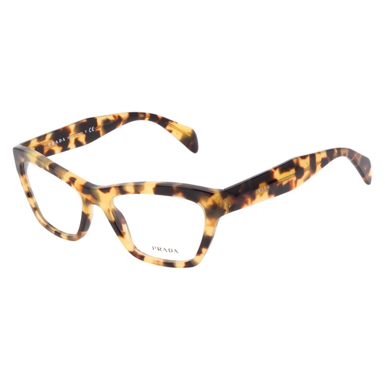 Prada VPR14Q 7S01O1 Tortoise Prescription Eyeglasses ...