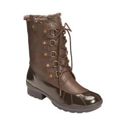 A2 by Aerosoles Women's Barricade Duck Boot Dark Brown Combo