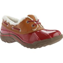 Women's Anne Klein Gamil Flat Red/Brown Multi Synthetic