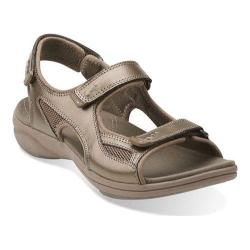Women's Clarks InMotion Thorn Sandal Pewter Leather