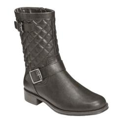 Aerosoles Women's Take Pride Black Quilted Boot