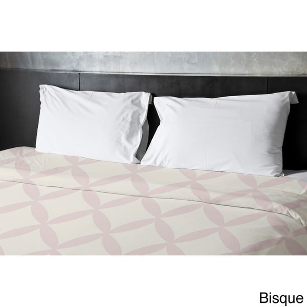 68 x 88 Shell and Bisque Geometric Duvet Cover