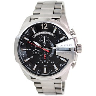 Diesel Men's Mega Chief DZ4308 Stainless Steel Automatic Watch with Black Dial