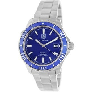 Tag Heuer Men's Aquaracer WAK2111.BA0830 Blue Dial Stainless Steel Watch