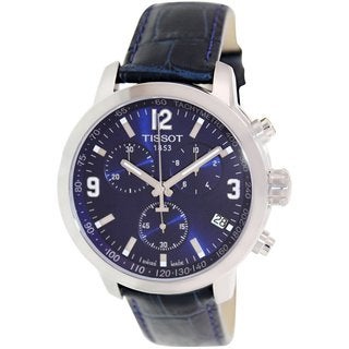 Tissot Men's PRC 200 T055.417.16.047.00 Blue Leather Watch