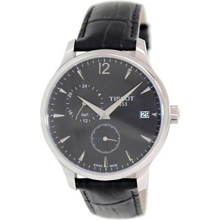 Tissot Men's Tradition T063.639.16.057.00 Black Leather Watch