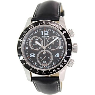 Tissot Men's T039.417.16.057.02 Black Leather Watch