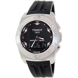 Tissot Men's T002.520.17.051.00 Black Rubber Swiss Quartz Watch with Black Dial