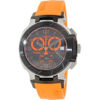 Tissot Men's T048.417.27.057.04 Orange Rubber Swiss Chronograph Watch