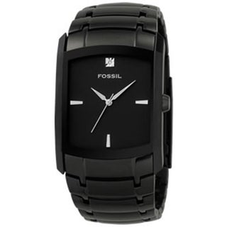 Fossil Men's Diamond FS4159 Black Stainless-Steel Analog Quartz Watch with Black Dial