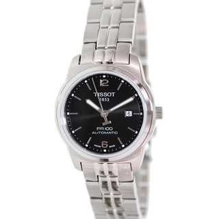 Tissot Women's Pr 100 T049.307.11.057.00 Stainless Steel Swiss Automatic Watch with Black Dia