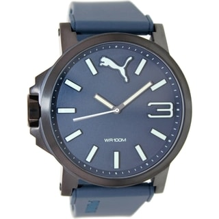 Puma Men's Ultrasize PU103461005 Blue Rubber Analog Quartz Watch