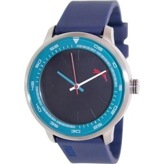 Puma Men's Cruise PU103412005 Blue Silicone Analog Quartz Watch