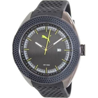 Puma Men's Octane PU103261003 Black Rubber Analog Quartz Watch with Black Dial