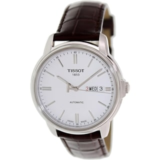 Tissot Men's Automatic lll T065.430.16.031.00 Brown Leather Swiss Automatic Watch