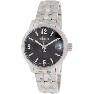 Tissot Men's Prc 200 T055.410.11.057.00 Stainless Steel Swiss Quartz Watch with Black Dial