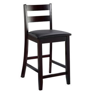Linon Triena Collection Dark Cherry Soho Counter Stool